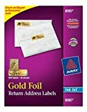 Avery Gold Address Labels for Inkjet Printers, 3/4'' x 2-1/4'', 300 Labels (8987)