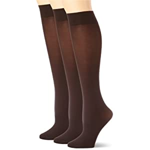 HUE-Womens-Soft-Opaque-Knee-High-Socks-Pack-of-3