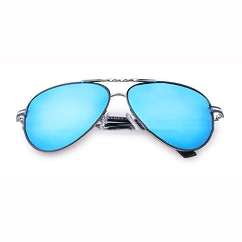 Sports A lunettes de polarisées pare UV400 lunettes plein Hiker lunettes de lunettes UV soleil Star de de soleil rétro protection ai de soleil soleil nouveau cadeaux protection hommes Blue Frame; soleil conduite de Silver qUdAFZd