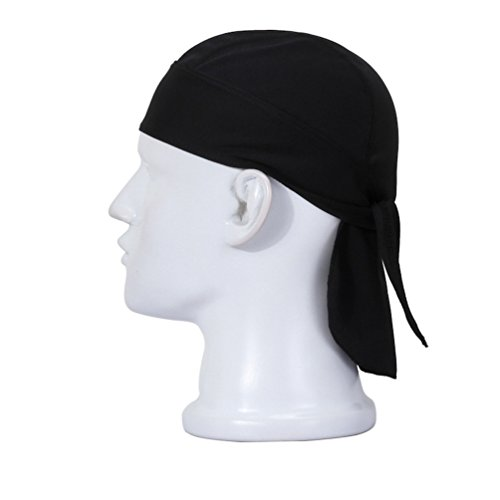 ZQXPP QH138 Motorcycle Biker Skull Caps Quick-drying Sunscreen Sweat Pirate Scarf/Personalized Scarf Hat Black (Personalized Scarf Mens)