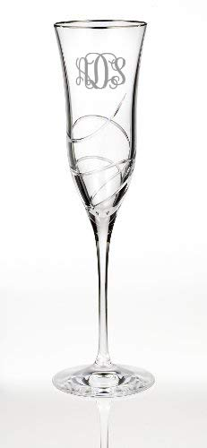 Waterford Ballet Ribbon Essence Platinum Champagne Flute (Engraved - Platinum) Ballet Ribbon Champagne Flute