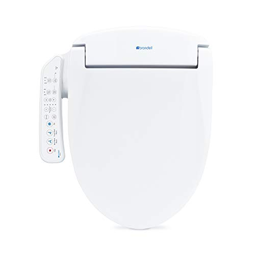 Brondell Swash SE400 Seat, Fits Elongated Toilets, White - Bidet - Oscillating Stainless-Steel Nozzle, Warm Air Dryer, Ambient Nightlight