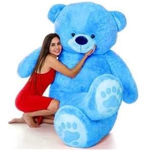 AK Toys Love Teddy Bear for Girls Panda Teddy Bears tady Bears Toys Big Size Latest (Blue, 3 Feet)
