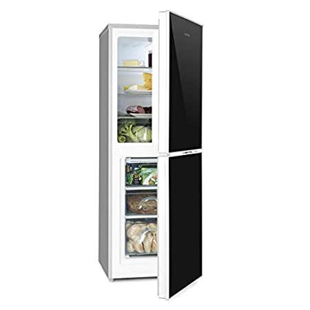 Klarstein - Frigorífico con congelador y estantes de cristal ...