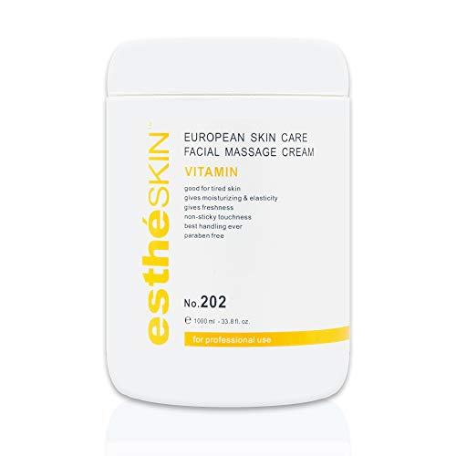 estheSKIN Vitamin Facial Massage Cream for European Skin Care, 33.8 fl.oz. / 1000 ml ()