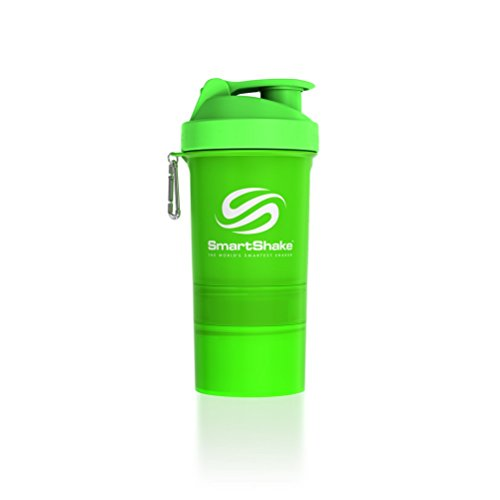 SmartShake Original Bottle, 20 oz Shaker Cup, Neon Green