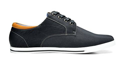 BRUNO MARC NEW YORK Bruno Marc Mens Rivera Oxfords Shoes Sneakers Black dWYNYYYGf5