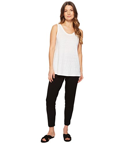 Eileen Fisher Slim Ankle Slouchy Pant (Large, Black) from Eileen Fisher