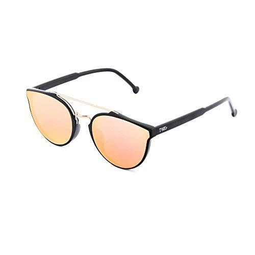 de CARTESIO sol Negro Rosa degradadas mujer Gafas TWIG hombre espejo UPnwZZx