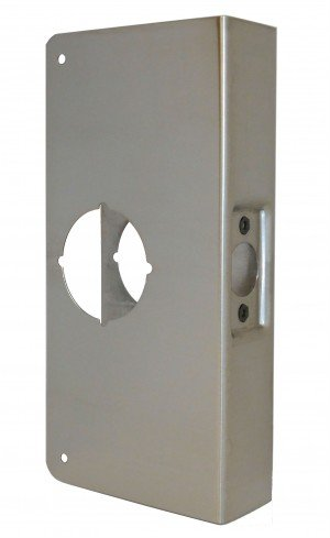 Don-Jo 3-S-CW Satin Steel Door Wrap-Around for Cylindrical Door Locks with 2-1/8'' Hole