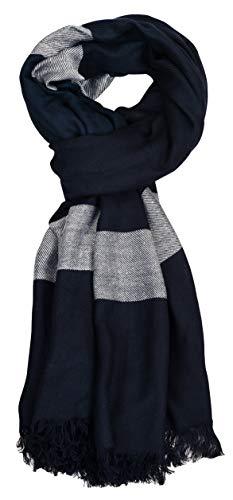 Aimee Unisex Bluish Viscose Scarf (Blue, Multicolour)