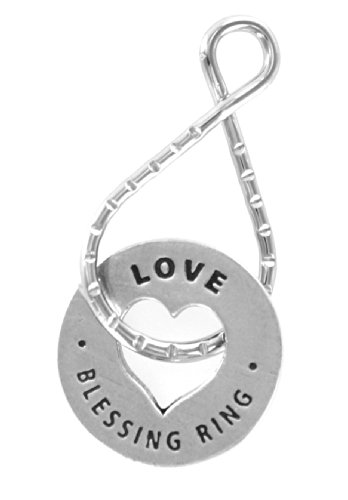 (HW LOVE Always In My Heart Reversible Blessing Ring Keychain)