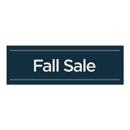 CGSignLab | ''Fall Sale -Basic Navy'' Repositionable Opaque White 1st Surface Static-Cling Non-Adhesive Window Decal (5-Pack) | 36''x12'' by CGSignLab