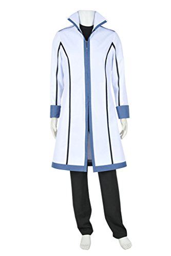 DreamDance Fairy Tail Cosplay Gray Fullbuster Costume Uniform White Male M -