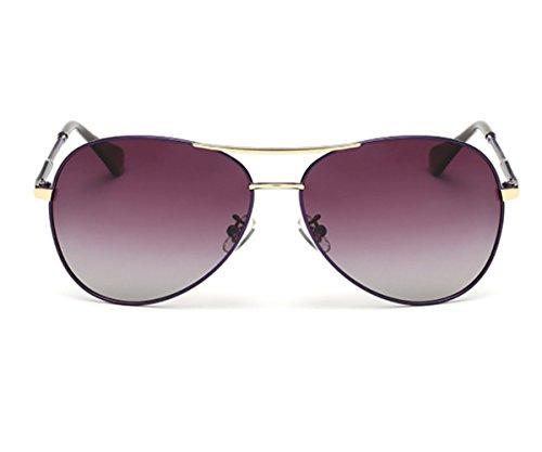 Heartisan Aviator Polarized Full Mirrored Metal Crossbar Sunglasses C3