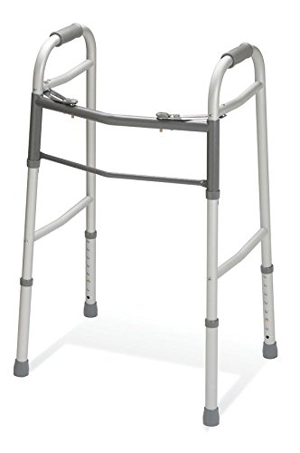 - Medline Easy Care Two-Button Folding Walkers with 5