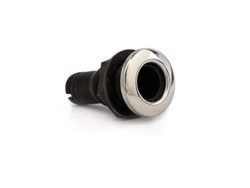 """Five Oceans Black Nylon/Stainless Steel Thru-Hulls w/stud for hose, 1 1/2"""" FO-2997 primary"""
