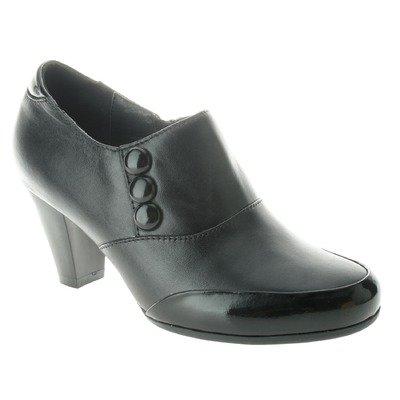 Spring Step Women's Black Leather/Black Patent Soho 40 M EU (Soho Black Leather)