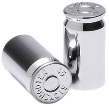 Sickshooter .45 Caliber Shell Valve Stem Caps (SuperChrome), 2 pieces