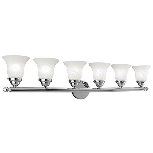Livex Lighting 1066-05 Neptune 6-Light Bath Light, Chrome