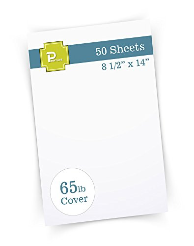 "(Printure Pure White Legal Size Cardstock (8 1/2"" X 14"") - 65lb Cover - Great for Menu Paper, Documents, Programs (50 Sheets))"