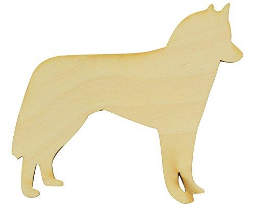 Standing Husky Wood Cutout (Large 18
