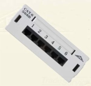 Allen Tel Products AT66-6P 6 Ports, 568A / 568B Wiring, Universal, 110 Termination Category 6 Patch Box