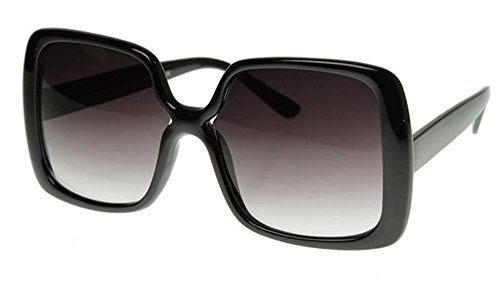 New Women's Vintage Style Black XL Oversized Jackie O Sunglasses Gradient - Sunglasses Jackie In O