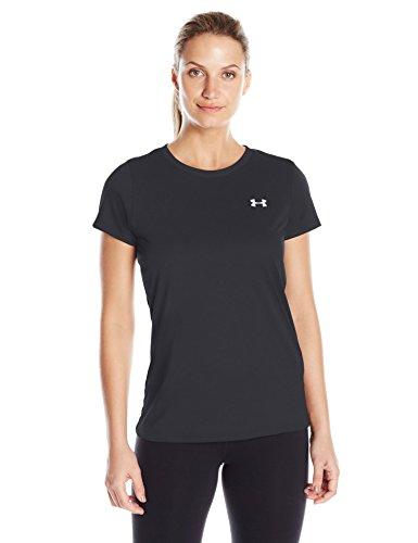 Under Armour Women's Tech T-Shirt, Black (001)/Metallic Silver, ()