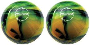 EPCO-Duckpin-Bowling-Ball-2-Paramount-Glow-Yellow-Black-Balls