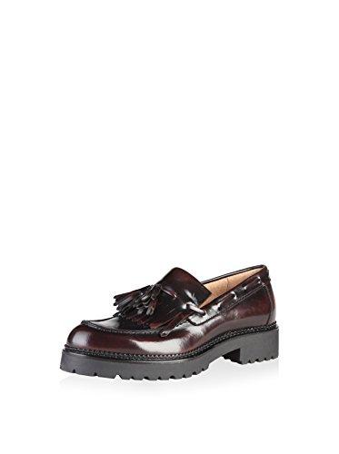 Fait Dans Les Chaussures Pour Femmes Italia Mocassins Rouge Bordeaux