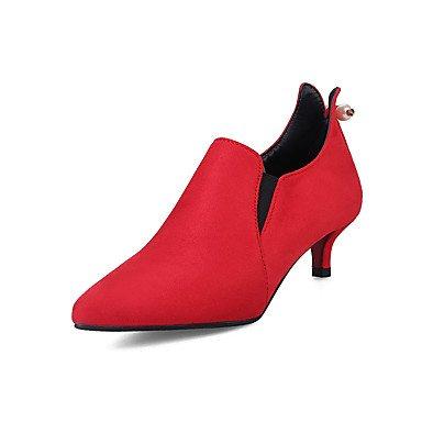 1 Ruby WIKAI Verano Polipiel vestimenta hebilla mujeres rubí negro pulg de Comfort Tacones 3 gris tacón 1A gatito comodidad Primavera informal 4 poca UYwxrIUBq