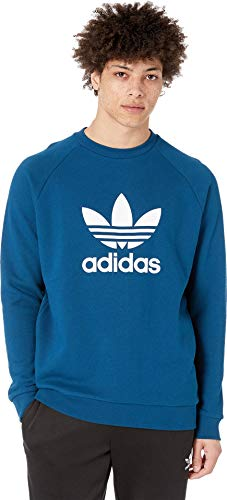 adidas Originals Men's Trefoil Crew Sweatshirt Legend Marine X-Small