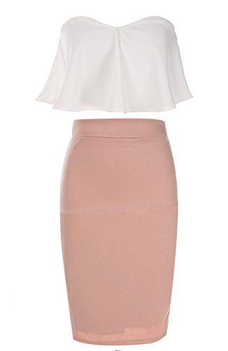 Evening Stretchy Elastic Women Skirt Dress Set for top White Women Pink Casual and Dresses Women Dresses for Cocktail cindere and Zgqw5d6Z