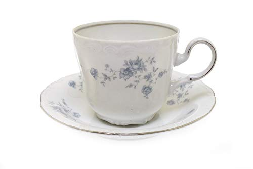 (Johann Haviland Blue Garland Bavaria Germany Cup and Saucer )