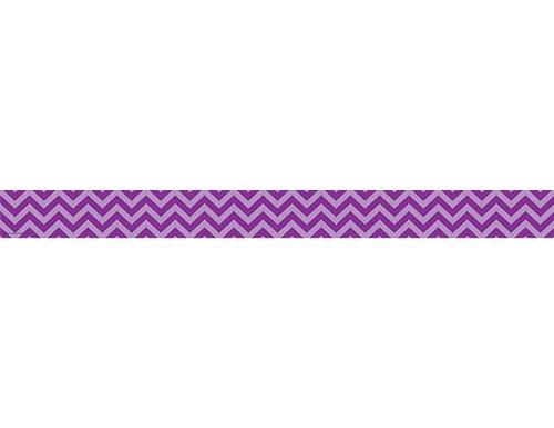 Teacher Created Resources Purple Chevron Straight Border -
