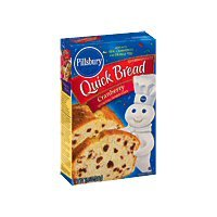 Pillsbury Cranberry Quick Bread & Muffin Mix 15.6 oz (Pack of 12) by Pillsbury