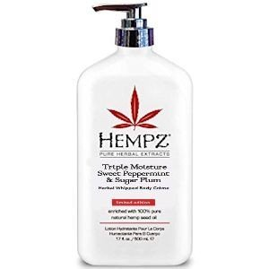 Hempz Sweet Peppermint and Sugar Plum Body Creme, 17 Ounce