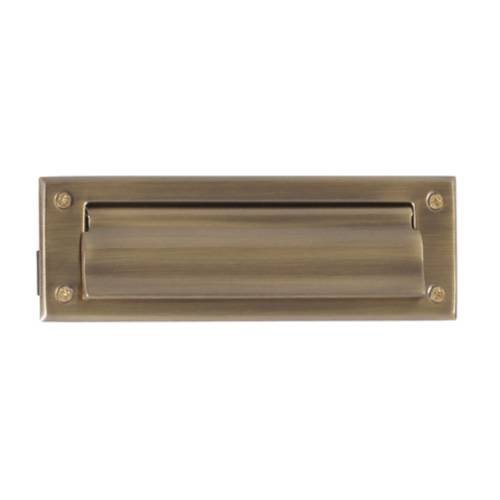 Letter Box Plate Finish: Antique Brass by BRASS Accents