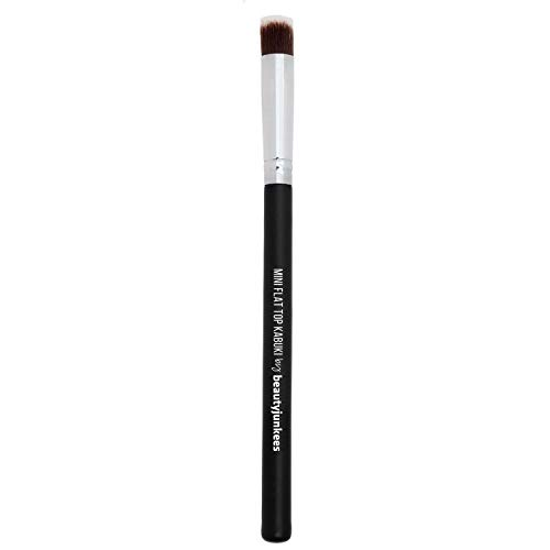 (Under Eye Concealer Makeup Brush - Small Mini Flat Top Kabuki Synthetic Bristles Best for Acne, Under Eye Concealing Blending Liquid, Powder, Cream for Maximum Coverage, Vegan Brochas Para Ojos )
