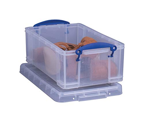 Really Useful 6662969 Stackable Clear Storage Box44; 5 x 8 x 13.37 in Pack of 4