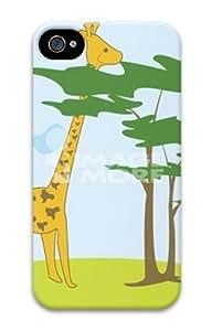 Iphone 4 4s 3D PC Hard Shell Case Giraffe Eating by Sallylotus