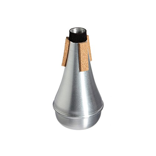 M Y Fly Young Trumpet Practice Mute Aluminum Straight Trumpet Cornet Silencer Silver