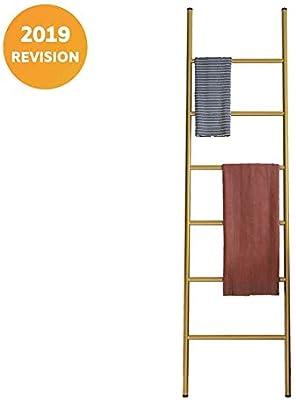 Escalera Decorativa Toallero, toallero Grande de Metal Resistente, toallero Escalera con Seis peldaños para Colocar Toallas, Mantas o revistas Gold: Amazon.es: Hogar