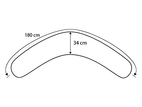 Theraline Bezug f/ür das Komfort Stillkissen 180 cm Dessin 15 Cappuccino