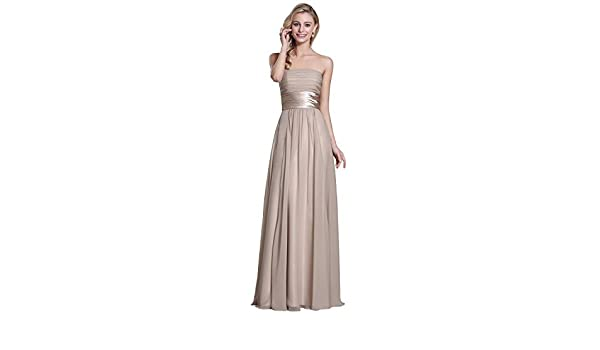 Strapless Grey Evening Gown Bridesmaid Dress (07151408) at Amazon Women s  Clothing store  a7f4e7eaca