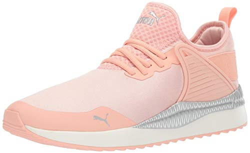 - PUMA Women's Pacer Next Cage Sneaker, Peach Bud Silver, 9.5 M US