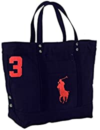 Polo Ralph Lauren Cotton Canvas Big Pony Zip Tote Bag