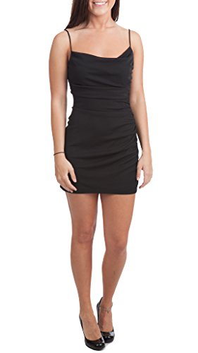 David Meister Ruched Jersey Micro Mini Dress, Black, 4