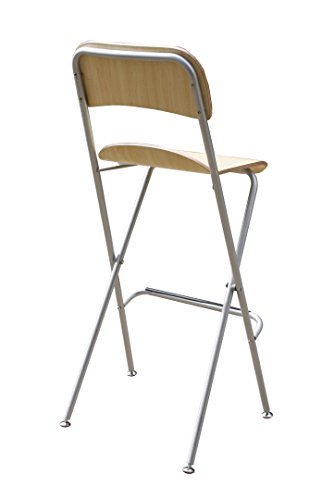 Fixture Displays Folding High Chair Bar Stool Folding Wood Metal Chair Two-Pack 11036 by FixtureDisplays (Image #3)